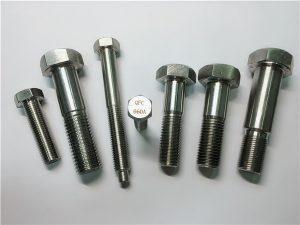 Br.25-inkolonski a286 šesterokutni vijci 1,4980 a286 pričvršćivači gh2132 pričvršćeni vijčani strojevi od nehrđajućeg čelika